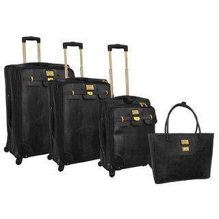 Adrienne Vittadini 4-piece Spinner Luggage Set