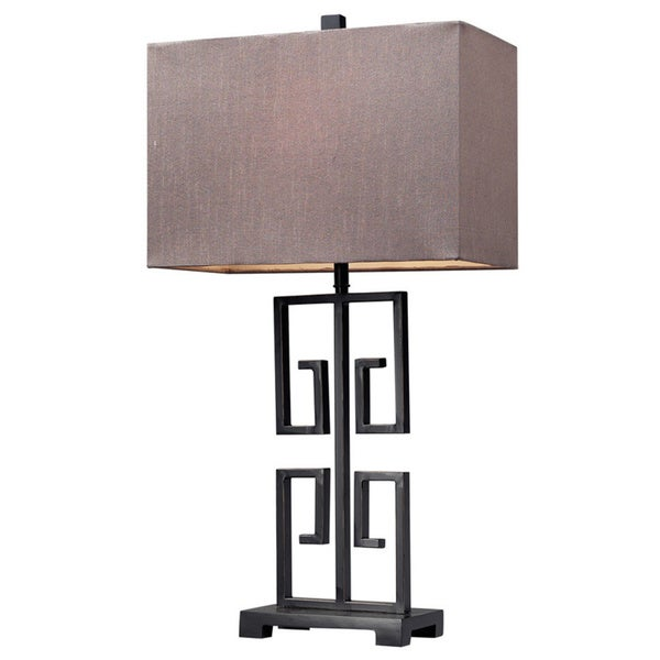 Greek Key 1-light Dark Bronze Table Lamp