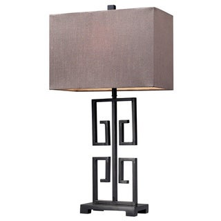 HGTV HOME Greek Key 1-light Dark Bronze Table Lamp