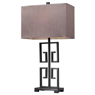 Greek Key 1-light Dark Bronze Table Lamp