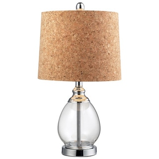 HGTV HOME Cork Shade 1-light Clear Glass Table Lamp