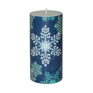 3 x 6-inch Christmas Snowflake Pillar Candle (Set of 4)