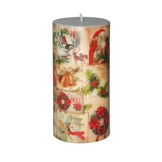 3 x 6-inch Christmas Santa Pillar Candle (Set of 4)