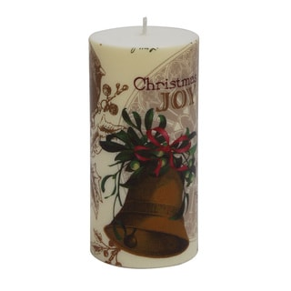 3 x 6-inch Christmas Bell Pillar Candles (Set of 4)