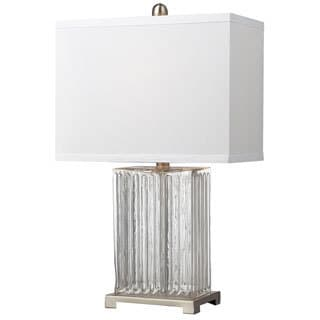 HGTV HOME Ribbed Glass 1-light Clear Table Lamp