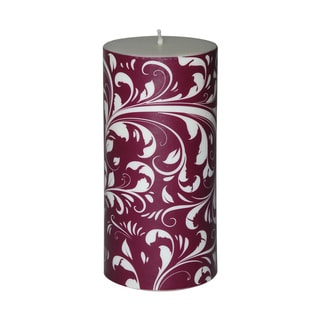 3 x 6-inch Christmas Scroll Pillar Candle (Set of 4)