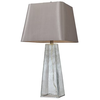 Seeded Glass 1-light Clear Table Lamp