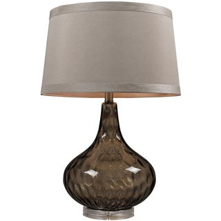 Water Glass 1-light Coffee Smoked Table Lamp