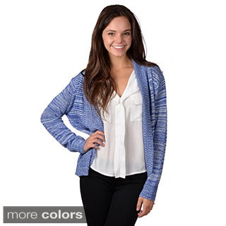 Journee Collection Women's Long Open Front Cardigan
