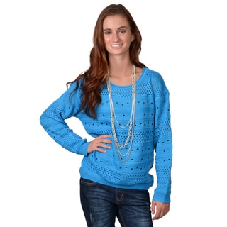 Journee Collection Women's Crew Neck Knit Sweater
