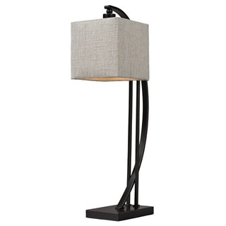 HGTV HOME Arched Metal 1-light Bronze Table Lamp