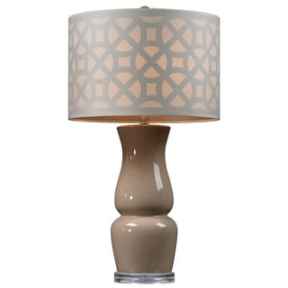 HGTV HOME Ceramic 1-light Taupe Table Lamp