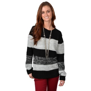 Journee Collection Women's Long Sleeve Striped Sweater