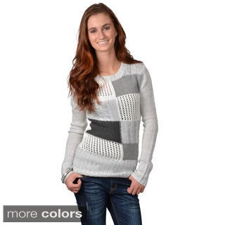 Journee Collection Junior's Colorblocked Long-sleeve Sweater