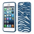 BasAcc Transparent/ Dark Blue Zebra Case for Apple iPhone 5/ 5S