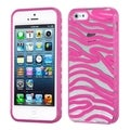 BasAcc Transparent/ Hot Pink Zebra Case for Apple iPhone 5/ 5S