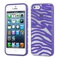 BasAcc Transparent/ Purple Zebra Case for Apple iPhone 5/ 5S