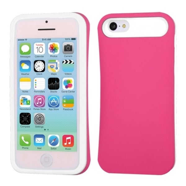 INSTEN Rubberized Wallet Phone Case Cover for Apple iPhone 5C