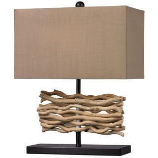 Drift Wood 1-light Black/ Natural Table Lamp