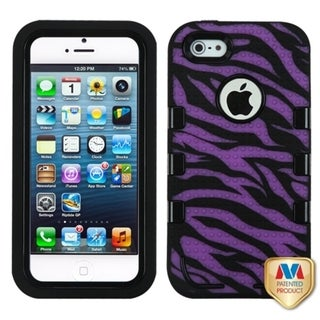 INSTEN TUFF eNUFF Hybrid Zebra Phone Case Cover for Apple iPhone 5 / 5S / SE