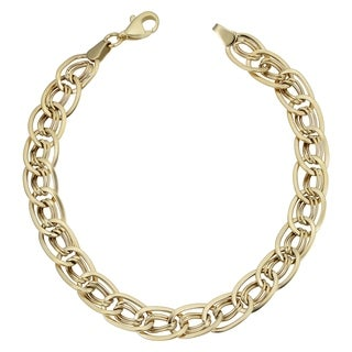 Fremada 10k Yellow Gold Twist Oval-cut Bracelet (7.5-inch)