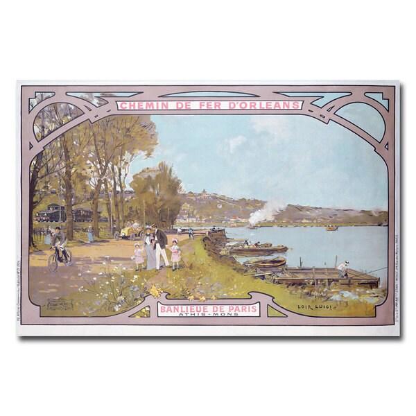 Luigi Loir 'Chemins de Fer d'Orleans' Canvas Art