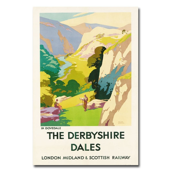 Frank Sherwin 'The Derbyshire Dales' Canvas Art