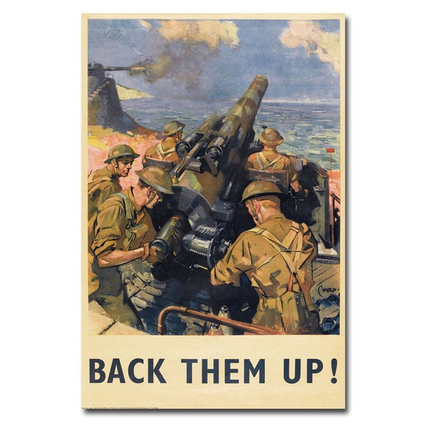 Unknown 'Back Them Up' Canvas Art