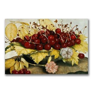 Giovanna Garzoni 'Cherries and Carnations' Canvas Art