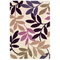 Moonwalk Lunar Garden/ Cream-Multi Brown Area Rug (7'10 x 10'10)