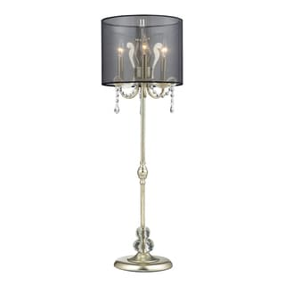 Andover 3-light Silver Leaf Tall Buffet Lamp