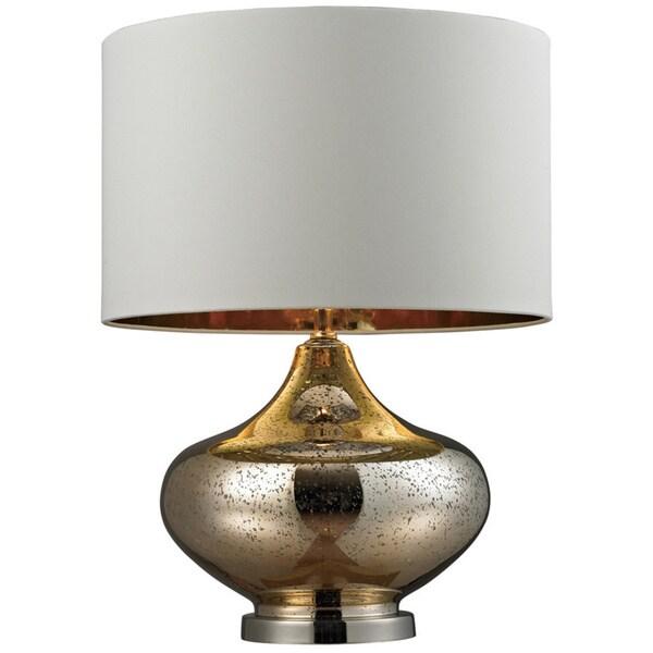 Blown Glass 1-light Gold Antique Mercury Table Lamp