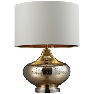 Blown Glass 1-light Gold Antique Mercury Table Lamp