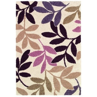 Moonwalk Lunar Garden/ Cream-Multi Brown Area Rug (5'3 x 7'6)