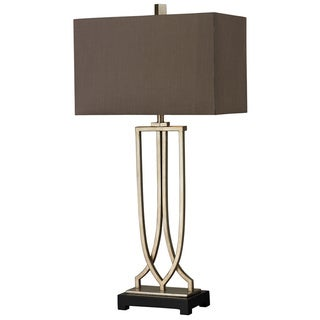 HGTV HOME Free Form Iron 1-light Antique Silver Leaf Table Lamp