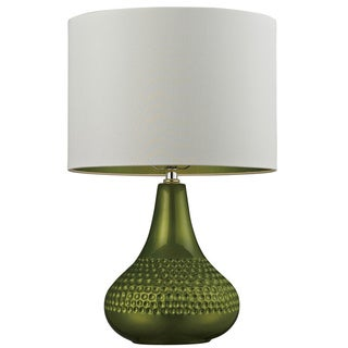 Ceramic 1-light Bright Green Table Lamp
