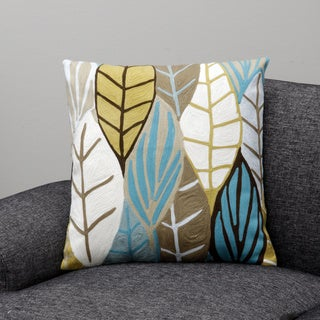 Poplar Ochre Decorative Pillow (India)