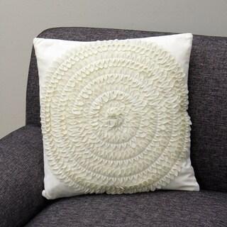 Soolar Ecru Decorative Pillow (India)