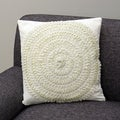 Soolar Ecru Decorative Pillow (India)