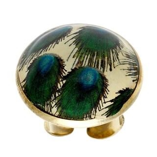 Saira Stone Emerald Adjustable Ring (India)