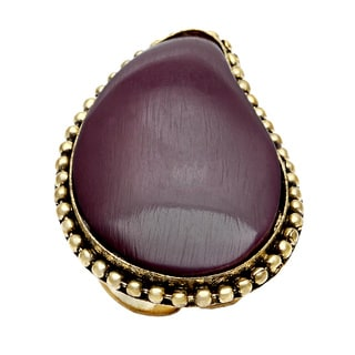 Saira Stone Violet Adjustable Ring (India)