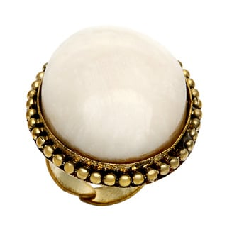 Saira Stone White Adjustable Ring (India)