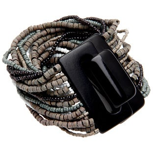 Kahir Grey Bead Block Bracelet (India)