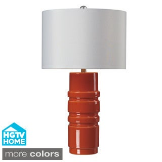 HGTV HOME Modern Ceramic Glaze Table Lamp