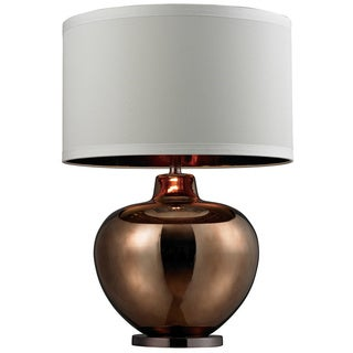 1-light Oversized Blown Glass Bronze Table Lamp
