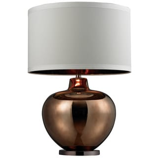 HGTV HOME 1-light Oversized Blown Glass Bronze Table Lamp