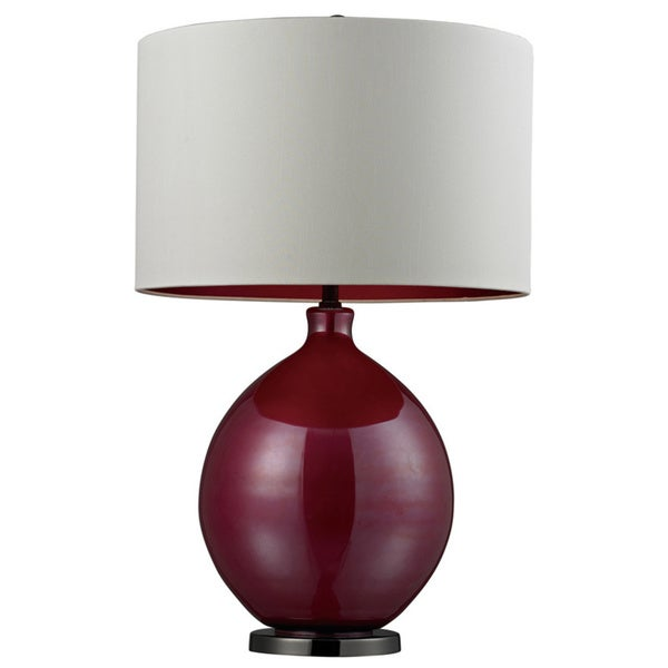 Blown Glass 1-light Cerise Pink Table Lamp