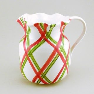 Tartan Twist Christmas Pitcher (Italy)