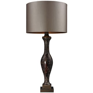 HGTV HOME 1-Light Hand-painted Glass Table Lamp