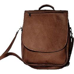 David King Leather 116 Vertical Eexpandable Portfolio Backpack Cafe